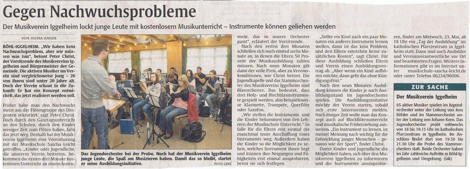 Artikel Rheinpfalz