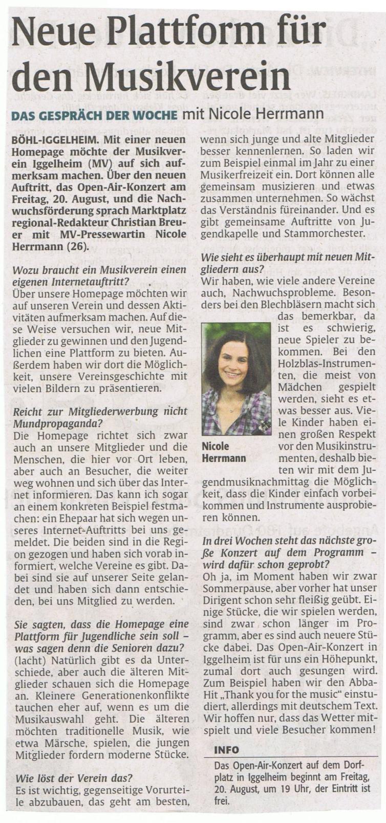 Interview Rheinpfalz